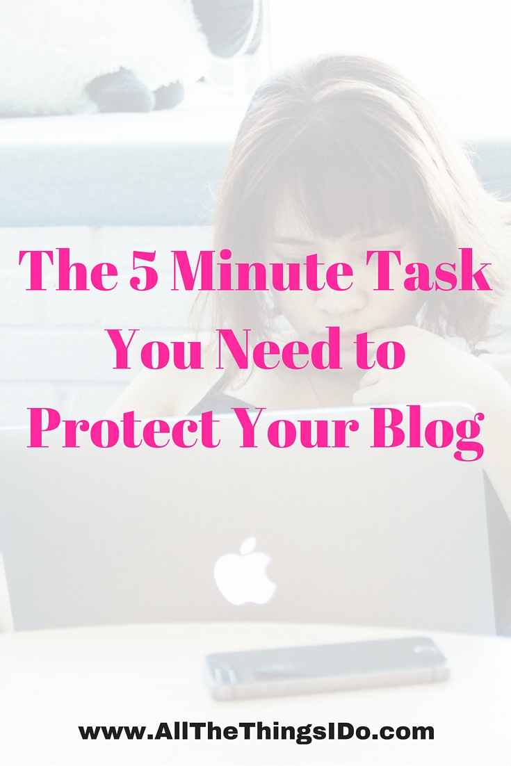 The 5 Minutes Task You Need to Protect Your Blog