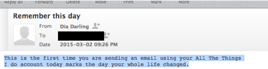 Email to myself
